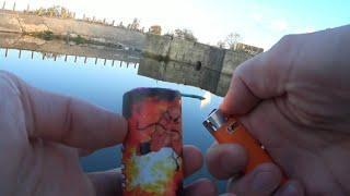 Petasan dalam air / Взрыв петарды в воде / Firecrackers in water / 鞭炮在水中 / 水の中の爆竹