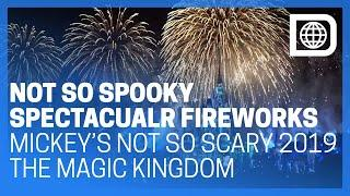 NEW Disney's Not So Spooky Spectacular Fireworks - Mickey's Halloween Party at The Magic Kingdom