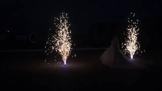 Пиротехническое шоу / Холодные фонтаны+ пиротехнические инициалы