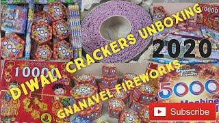 UNBOXING 2020 DIWALI CRACKERS  | GNANAVEL FIREWORKS | 1st PART CRACKERS STASH