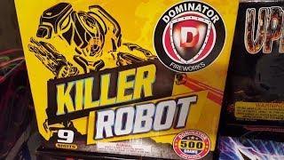 Fireworks Demo (500 Gram Cake) - Killer Robot (Dominator)