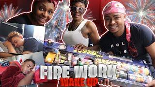 LOUD FIREWORKS PRANK ON BROTHER & BOYFRIEND!!! (THEY GOT SCARED)
