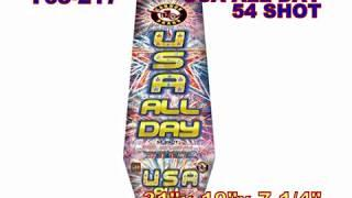 USA All Day 25 Shot Cannon Fireworks (Coming in 2019) | Red Apple Fireworks