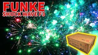 The AMAZING Funke Shock Wave F3 cake - Fireworks #shorts