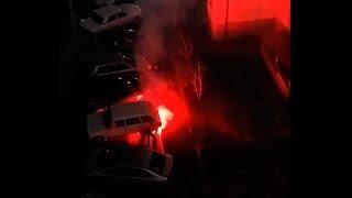 Фейрверк. Автомобиль загорелся. Новороссйск  01.01.2019