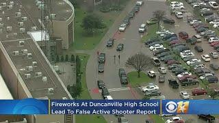 Student Sets Off Fireworks Inside Duncanville High School; Leads To Large Police Response