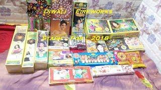 Diwali Crackers Fireworks Stash 2018 Around 3000 Rs  - Cock Brand And Others (Hindi)  Part 1
