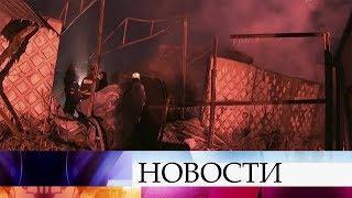 В Санкт-Петербурге произошел пожар на складе пиротехники.
