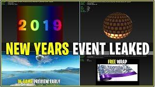 *NEW* LEAKED NEW YEARS EVENT..! *Countdown, Live Event, Fireworks, Free Wraps and More! (Fortnite)