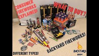Backyard Firework Types Explained! Home Consumer Fireworks, which to buy?  Beginners, start here!