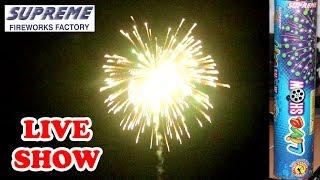 LIVE SHOW from Supreme Fireworks - Large Skyshot Shell - Diwali testing