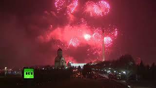 Праздничный салют прогремел над Москвой в честь 75 летия освобождения Одессы.