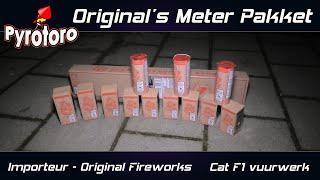 Original's Meter Pakket Cat F1 met 12 fonteinen | Original Fireworks (Zena vuurwerk BE)