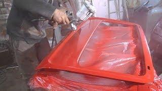 Подготовка и покраска двери багажника (хлопушка) в автомобиле ВАЗ - 2121 НИВА