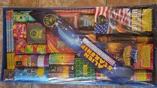 Alien Starship assortment unboxing 2019 alien fireworks