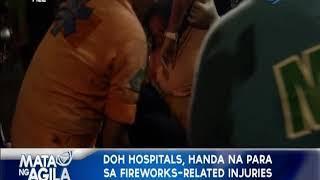 DOH hospitals,  handa na para sa fireworks-related injuries