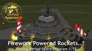 Kerbal Space Program's Final update added fireworks ─ So I made it go to space...