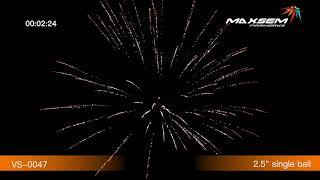 """Фестивальные шары  VS-0047 -ARTILLERY SHELLS - в упак 6 заряд  2,5"""" 64 мм. калиб + мортира -выс 70 м"""