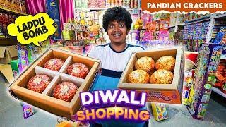 Huge Crackers Shopping - Laddu Bomb - Pandian Fireworks Agencies, Walajabad - Irfan's View