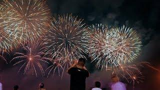 Hong Kong and Shenzhen residents celebrate National Day with fireworks