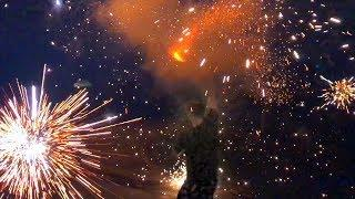 Launching Crazy Fireworks in Florida