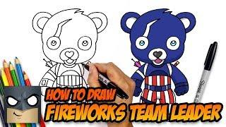 How to Draw Fireworks Team Leader | Fortnite | Step-by-Step Tutorial