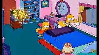 The Simpsons - Homer and Bart destroy Lisa's room with fireworks
