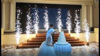 Свадебный торт в Одессе. Холодный фонтаны на торт в ресторане Реннесанс Гранд Холл (полная версия)