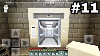 Выживание на телефоне в Minecraft PE (1.9.0.5) #11 - ЛИФТ БЕЗ МОДОВ