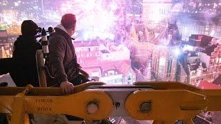 Watching New Years fireworks on top of a crane in Amsterdam *INSANE VIEWS*