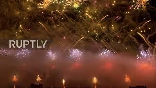 Russia: Breathtaking fireworks and light installations illuminate Moscow