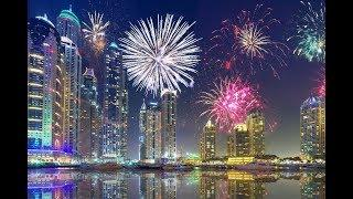 Дубай - Новый год салют 2019 - Dubai - New Year 2019