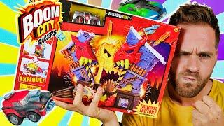BOOM CITY RACERS UNBOXING FIREWORKS FACTORY PLAYSET en Pe Toys