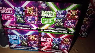 New! Elektro Skull unboxing and demo Doom Red apple fireworks 2019