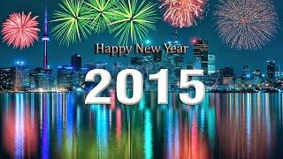 Салюты, фейерверки в Новый год 2015 с балкона 5го этажа