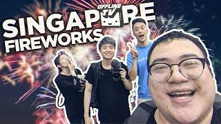 FIREWORKS AND FOOD MARKET | Singapore Day 2 /w Lily, Albert & Edison