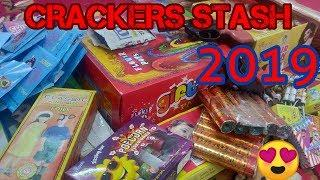 DIWALI CRACKERS STASH 2019 | LEFTOVER FIREWORKS | FIRECRACKERS REVIEW | DIWALI 2019