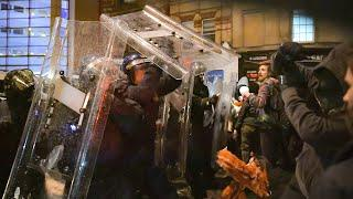 Bristol protest: Arrests made after bricks and fireworks launched at police