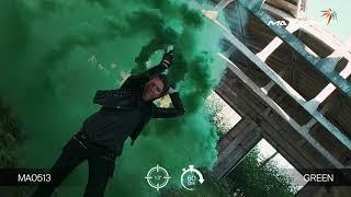Цветной дым - Maxsem - MA0513 Green - зеленый- ручной - время дымления 60 сек. 30 калибр #PYROtehnik