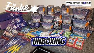 Pyroweb FUNKE Feuerwerk UNBOXING | 562€ | delovarana fireworks