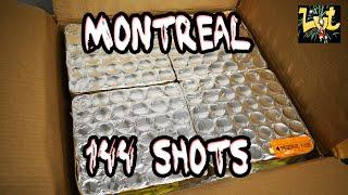 1027 - Montreal 144 Shots Compound Cake Vulcan Europe Fireworks 4K