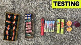 2020 Diwali Fireworks Testing || 2020 Diwali Crackers Testing || Different types of Crackers Testing