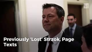 Get Ready for Fireworks Insp  Gen 's Office Recovers 20k Previously Lost Strzok, Page Texts