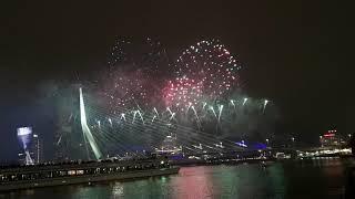 2019 New Year Fireworks Rotterdam, Netherlands