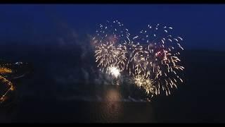 Drone footage of the D Day 75 Southsea Fireworks Display