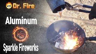 Pouring Molten Aluminum on Sparkle fireworks
