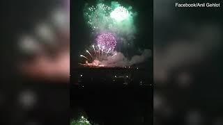 Priyanka Chopra and Nick Jonas celebrate wedding with fireworks
