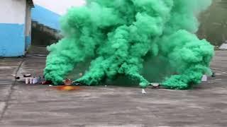 Цветной дым зеленый двухсторонний MA0514 Firedragon.by