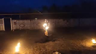 Фаер-шоу на 30-летие свадьбы Владимира и Ольги Михайловых. свет+огонь+пиротехника
