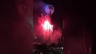 New year 2019 Fireworks @Reunion Tower Dallas , Texas , USA